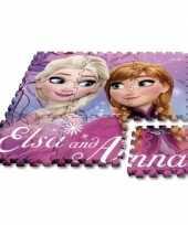 Feest disney frozen puzzel speelmat foam tegels 30 x 30 cm 9 stuks