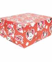 Feest disney inpakpapier minnie hartjes 200 x 70 cm op rol