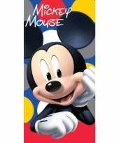 Feest disney mickey mouse badlaken strandlaken 70 x 140 cm 10154897