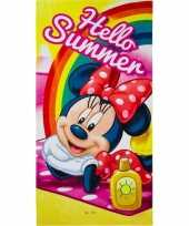 Feest disney minnie mouse summer badlaken strandlaken 70 x 140 cm