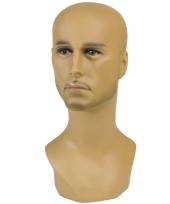 Feest display hoofd halfbloed man 40 cm