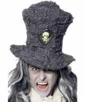 Feest doden hoed in de kleur grijs