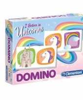 Feest domino spel eenhoorn voor kinderen