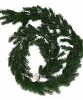 Feest donkergroene kerst guirlande 180 cm