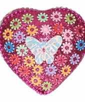 Feest doosje voor melktanden vlinder roze 6 cm 10087879