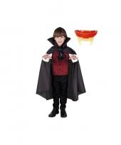 Feest dracula cape inclusief gebit voor kinderen