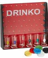 Feest drankspel drinko shotspel met 6 shotglaasjes