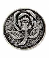 Feest drukknoop met roos 1 8 cm