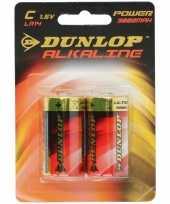 Feest dunlop lr14 c batterijen 2 stuks