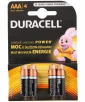 Feest duracell 4 stuks aaa batterijen