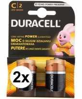 Feest duracell batterijen cr lr14 4 stuks