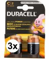 Feest duracell batterijen cr lr14 6 stuks