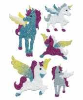 Feest eenhoorn glitter stickers 2 vellen