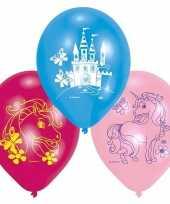 Feest eenhoorn thema ballonnen 12x stuks