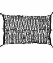 Feest elastische bagagenet voor kofferbak 80 x 50 cm