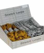 Feest elastische touwen in de kleur zilver