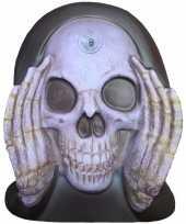 Feest enge gluurder skelet hoofd decoratie