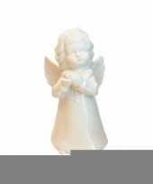 Feest engel beeldje porselein wit 18 cm