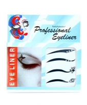 Feest eyeliner stickers strass steentjes