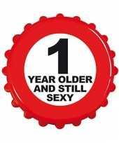Feest fles opener 1 year older