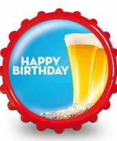 Feest fles opener happy birthday