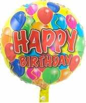 Feest folie ballon gefeliciteerd happy birthday ballonnen 45 cm met helium gevuld