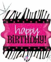 Feest folie ballon happy birthday verjaardag 46 cm met helium gevuld 10197942