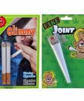 Feest fop pakket nep sigaret joint