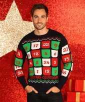 Feest foute kerstprint truien met adventskalender