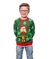 Feest foute kinder kersttruien met rendier