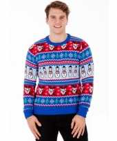 Feest foute print heren truien comic christmas