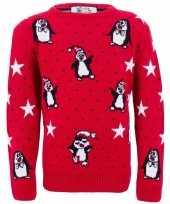 Feest foute print kinder truien met pinguins