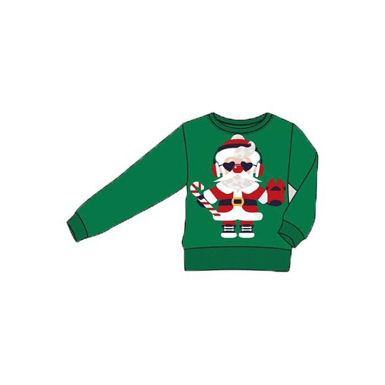 Feest foute print volwassenen truien met kerstman