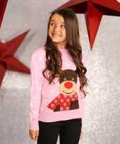 Feest foute rendier print trui voor meisjes