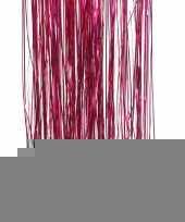 Feest fuchsia roze kerstversiering folie slierten 50 cm