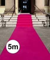 Feest fuchsia roze loper 5 x 1 meter