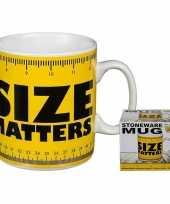 Feest fun koffiemok size matters 350 ml
