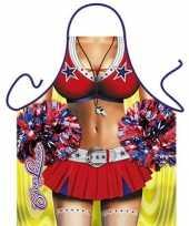Feest funny bbq schorten cheerleader