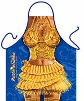 Feest funny bbq schorten pasta vrouw