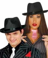 Feest gangster hoed zwart wit voor dames heren