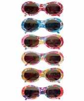 Feest gebloemde sixties party bril