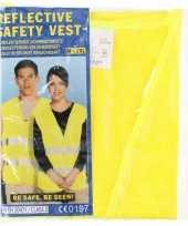 Feest geel veiligheidsvest voor volwassenen