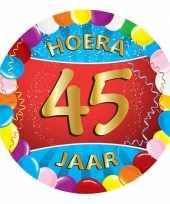 Feest gekleurde bierviltjes 45 jaar