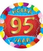 Feest gekleurde bierviltjes 95 jaar