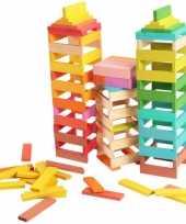 Feest gekleurde bouw blokken 150 stuks