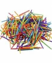 Feest gekleurde bouwhoutjes 500 gram