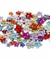 Feest gekleurde diamanten stenen bloem