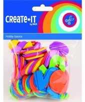 Feest gekleurde foam rubber cijfers 100 st