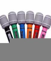 Feest gekleurde microfoons opblaasbaar
