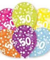 Feest gekleurde sarah verjaardag ballonnen 50 jaar 12 stuks